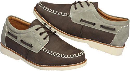 Casual Mens 035 Holes Loafers 5 Gadea Leather Up 031 Shoes Tall brown 3 EqgSxtw