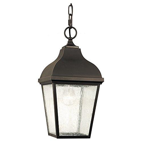 Sea Gull Lighting OL4011ORB Terrace One Light Outdoor Pendant Lantern, Oil Rubbed Bronze
