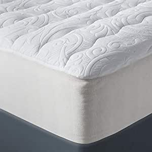 Amazon Com Fieldcrest Luxury Plush Mattress Pad White