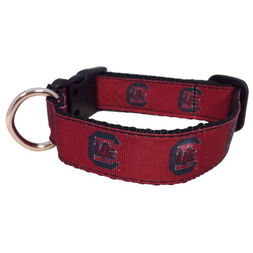 NCAA South Carolina Fighting Gamecocks Dog Collar (Team Color, Large)