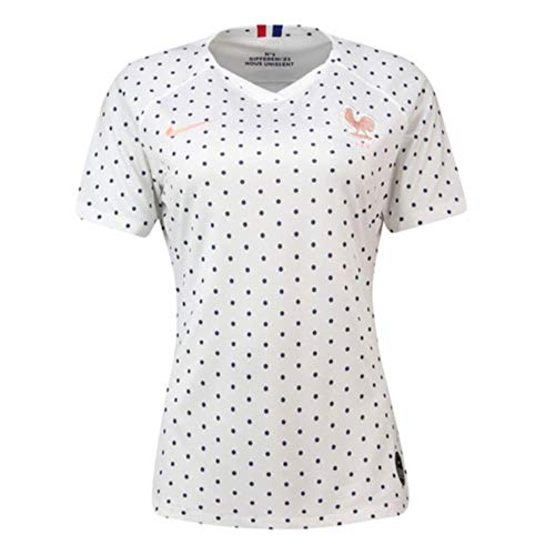 (Nike 2019-2020 France Away Womens Football Soccer T-Shirt Jersey)