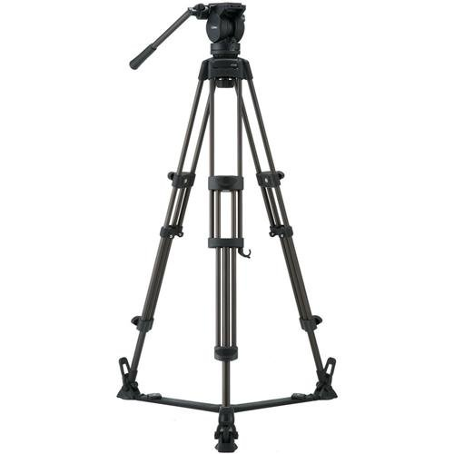 Libec LX7 Tripod System with Floor Spreader and Case, 75mm Ball Diameter, 8 kg/17.6 lb Load Capacity