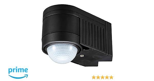 UKEW - Sensor de movimiento PIR de 360 grados con interruptor para exteriores IP44: Amazon.es: Iluminación