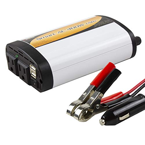 Wagan TrueRated(TM) 400 Watt 5V 2.1 Amp Continuous Power Inverter with USB Charging Ports - EL2003-5 ()