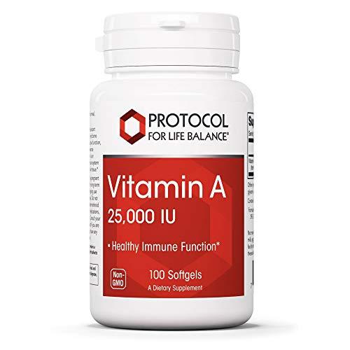 Protocol Vitamin A 25,000 IU – Eye, Retina, and Immune Health – 100 Softgels