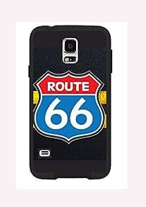 Case Cover Design Route 66 RT03 for Samsung Note 4 Border Rubber Silicone Case Black@pattayamart