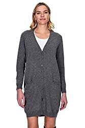 State Cashmere Women S 100 Pure Cashmere V Neck Fashion Long Cardigan