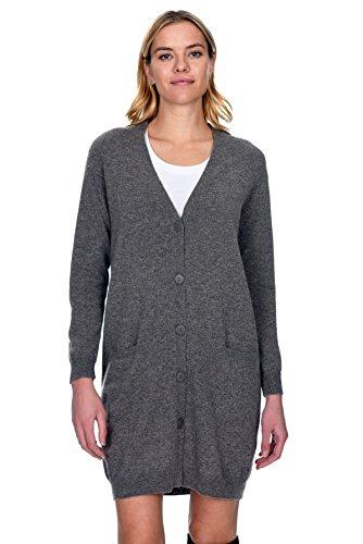 's 100% Pure Cashmere V Neck Fashion Long Cardigan (Pure Cashmere Cardigan)