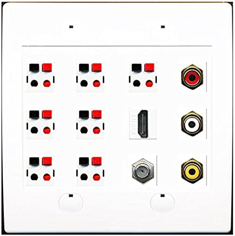 Replacement For PARTS-3642 BANANA POSTWALL PLATE FOR 4 SPEAKER
