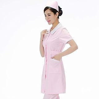 QZHE Abbigliamento medico Ospedale Infermiera Abbigliamento Uniforme Femmina Medica Camici Laboratorio Cappotto Medico Scienziato Medico Abbigliamento