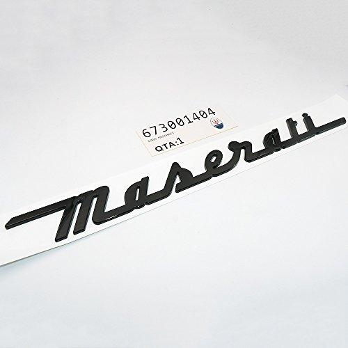 Maserati Part - US85 Maserati Trunk Nameplate Logo Emblem Badges Ghibli Coupe GranSport GranTurismo Quattroporte OEM (Gloss Black)