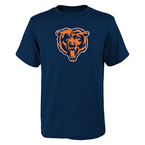 Chicago Toddler Shirt (NFL Chicago Bears Boys 4-7 Primary Logo Short Sleeve Tee, Navy, Small)