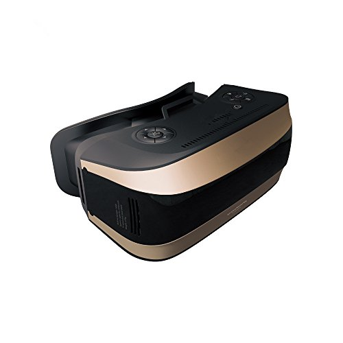 All In One 3D VR Headset No need Inset Mobile Phone 1080P HD Android System Virtual Reality VR Glasses 5.5''TFT Screen 360 Viewing Immersive Support WIFI Bluetooth TF Card-Gold by WOPRO