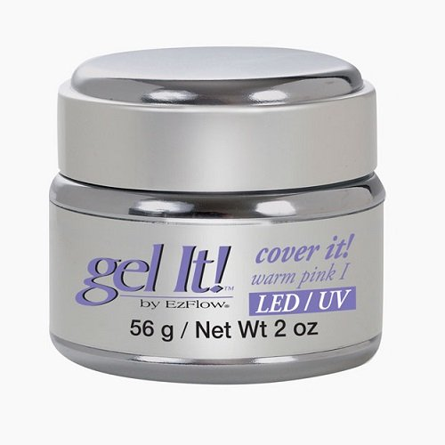 Ezflow Gel It! - Cover It! Warm Pink I - LED/UV Gel - 2oz (56g) - - Ezflow Gel