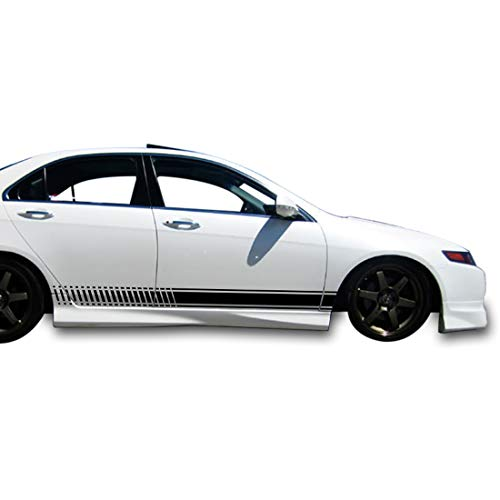 (Bubbles Designs 2X Decal Sticker Vinyl Side Racing Stripes Compatible with Honda Accord Type R and S )