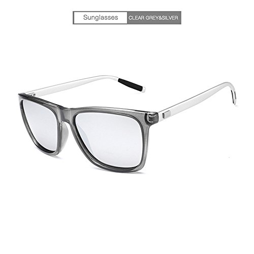 de sol del gafas marco de la del al de Gafas anti lente de las aluminio personalidad RFVBNM negra aire sol de la blanco Gafas magnesio mercurio manera marco gris negro Lente marco de de conductor libre sol del oscura ULTRAVIOLETA del w8HOq6
