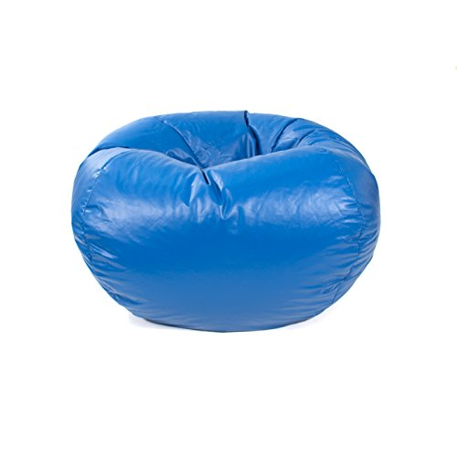 Gold Medal Bean Bags Leather Look Vinyl Bean Bag, Medium/Tween, Medium Blue by Gold Medal Bean Bags