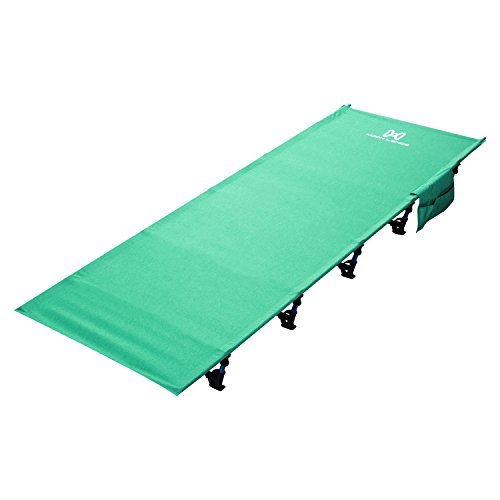 Moon Lence Camping Cot for Adults Lightweight Portable Camping Bed Compact Folding Cot with Breathable Waterproof Bed Surface,Perfect for Base Camp,Hiking and Hunting ()