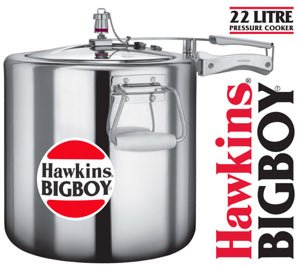 Hawkins Bigboy Aluminum 22 Litre Commercial Size Pressure Co