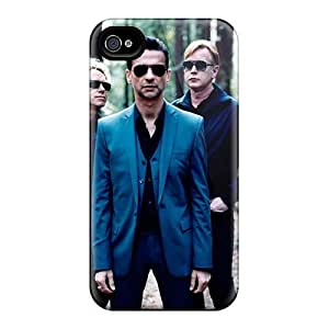 Excellent Hard Cell-phone Case For Iphone 4/4s (DzW15712vwaE) Customized High-definition Depeche Mode Band Pictures