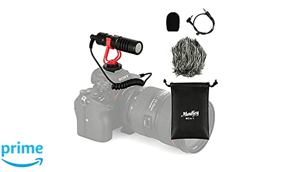 Moukey MCm-1 Micrófono Universal para Videocámaras/Cámara Canon EOS/Nikon Digital SLR/iPhone/Android Smartphones/Mac Tablet: Amazon.es: Instrumentos ...