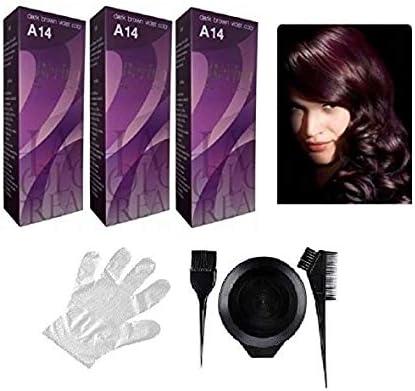 Berina - Tinte para el pelo (tamaño A6, 3 unidades), color morado
