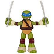 Teenage Mutant Ninja Turtles Stretch N' Shout Leonardo Figure