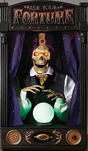 Halloween Animated Talking Skeleton Fortune Teller 33.5