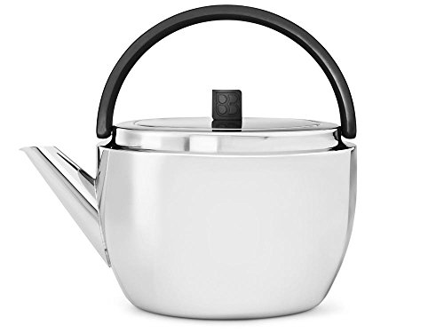 bredemeijer Celebrate Double Walled Teapot, 1.4-Liter, Stainless Steel Glossy Finish with Black Accents by bredemeijer