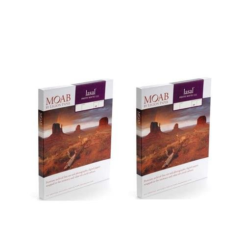 Moab 2 Pack Lasal Photo Matte, Double Sided, Bright White Archival Inkjet Paper, 235gsm, 4x6, 50 (Archival Matte Paper)