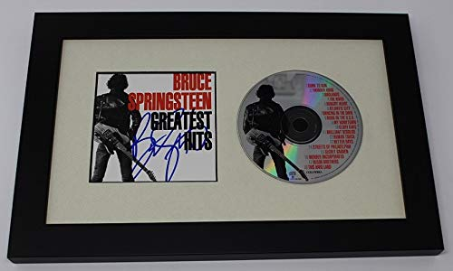 Bruce Springsteen Greatest Hits Signed Autographed Music Cd Compact Disc Insert Framed Display Loa