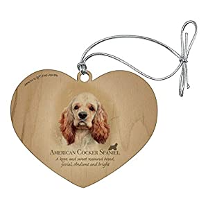 GRAPHICS & MORE American Cocker Spaniel Dog Breed Heart Love Wood Christmas Tree Holiday Ornament 4