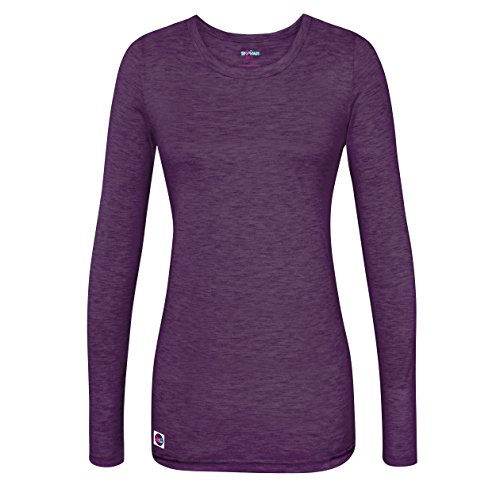 Sivvan Women's Comfort Long Sleeve T-Shirt / Underscrub Tee - S8500 - Heather Eggplant - XL