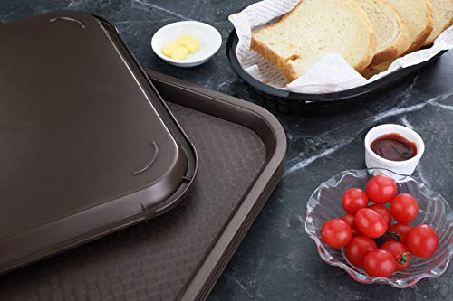 New Star Foodservice 24753 Brown Plastic Fast Food Tray, 14 by 18-Inch, Set of 12