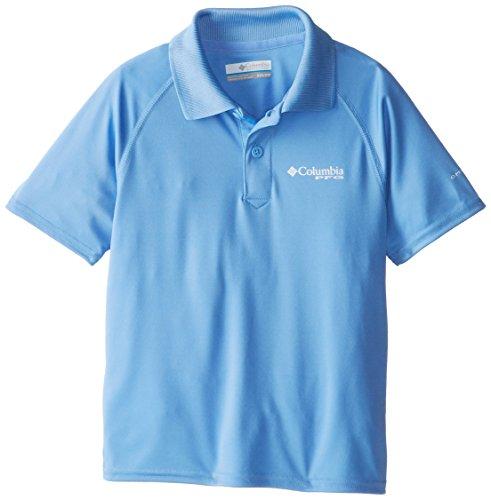 Columbia Sportswear Boy's Terminal Tackle Polo Shirt (Youth), White Cap, XX-Small ()