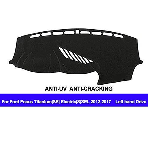 AUCD Car Dashboard Cover Silicone Non-Slip Dash Mat for Ford Focus Titanium/SE/Electric/S/SEL 2012 2013 2014 2015 2016 2017