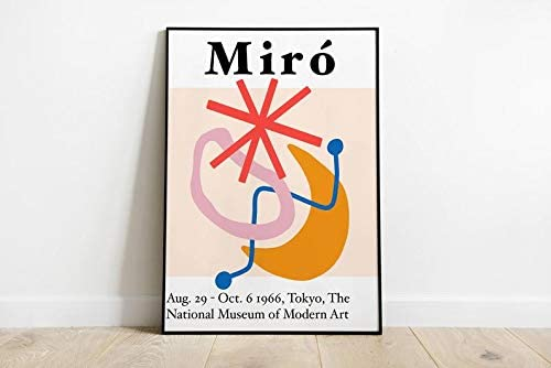 Joan Miro Exhibition poster approx. 12,4 x 9inch Size: 23x31,5cm 1989 offset lithograph after poster