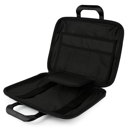JET BLACK Ultra Cady Cube Durable Tactical Messenger Bag Case for Microsoft Surface 2 Pro 10.6' / Surface 2 / Surface Tablet