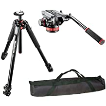 "Manfrotto MT055XPRO3 3-Section Aluminium Tripod with MVH502AH Professional Fluid Video Head and a Vidpro 35"" Padded Case"