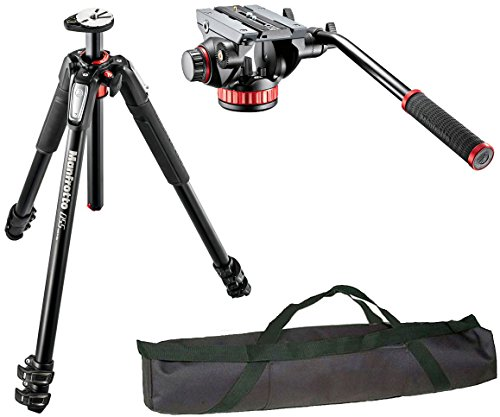 Manfrotto MT055XPRO3 3-Section Aluminium Tripod with MVH502AH Professional Fluid Video Head and a 35