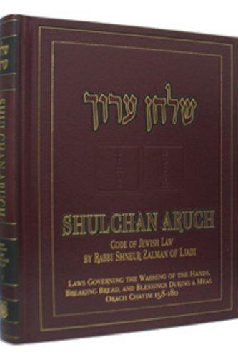 Shulchan Oruch English Vol 5 Orach Chaim 158 - 180