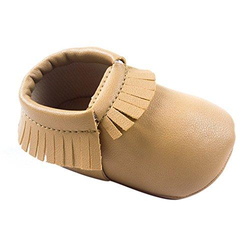 Mellow Be - Zapatos primeros pasos de piel sintética para niña, color negro, talla 19 EU Niño