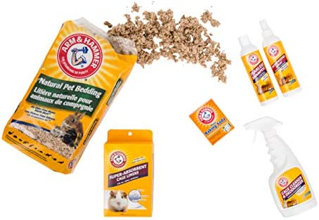 Arm & Hammer Super-Absorbent Cage Liners for Guinea Pigs, Hamsters, Rabbits & All Small Animals | Best Cage Liners for Small Animals, Control Pet Odors, 7 Count