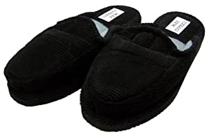 BLACK CORDUROY HOUSE SHOES OPEN BACK INDOOR & OUTDOOR HOUSE SLIPPER KID SIZE 13