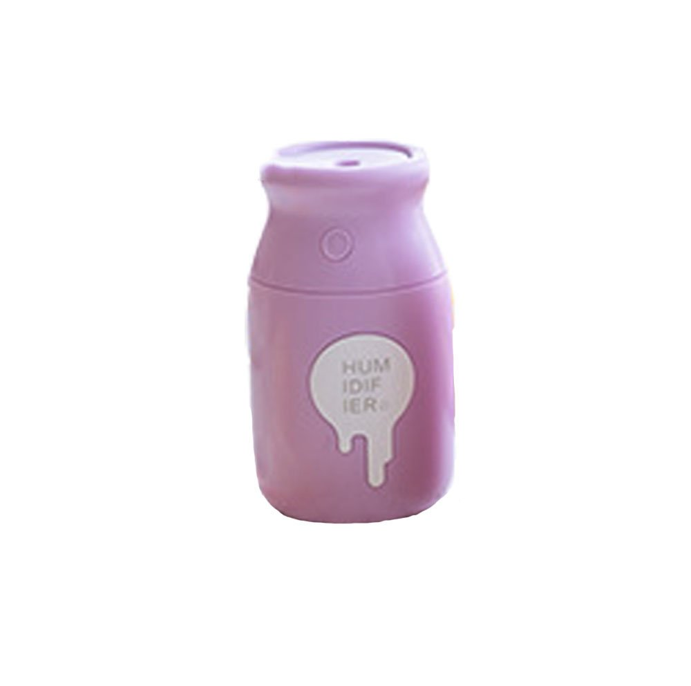 Humidifiers Humidifier mini bottle evaporative humidifier USB air purifier home car spa Baby (11 7cm, green, purple, pink) air purifier (Color : Purple)
