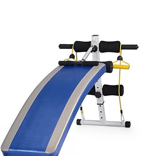 Rhegeneshop Fitness Gym 1.4M Adjustable Sit up Bench Board+Pull Rope Spring Booster by Rhegeneshop