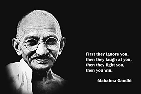 Mahatma Gandhi Citazioni Silk Poster 91 4 X 61 Cm By Tst