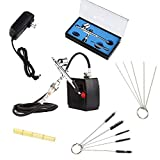 100-240V Dual Action Air brush Kit with Mini Compressor Tattoo Nail Beauty Art