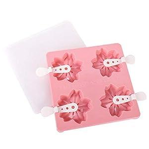 N/A Kafjc Stampo per Gelato in Silicone A 4 Fori Vassoio per Cubetti di Ghiaccio Ghiacciolo Barile Stampo Fai da Te… 1 spesavip