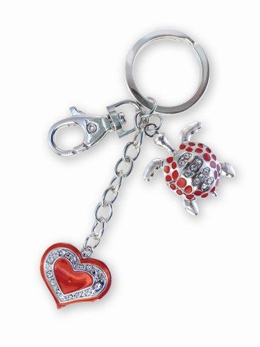 Sparkling Charms - Red Sea-Turtle With Heart